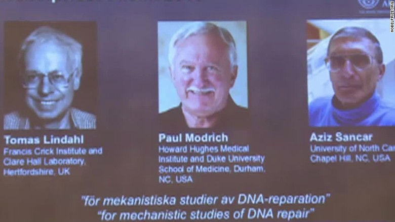 Nobel per la chimica all'autoriparazione del DNA