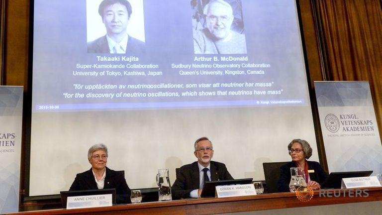 I neutrini hanno massa e vincono il Nobel per la fisica
