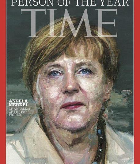 Angela Merkel persona dell'anno su Time