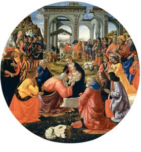Ghirlandaio, Adorazione dei Magi, 1487, Galleria degli Uffizi, Firenze