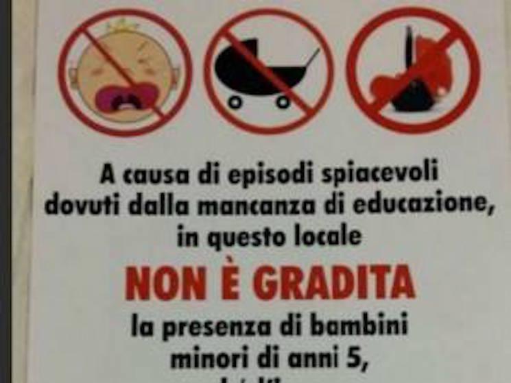 Ristorante romano 'off limits' ai bambini