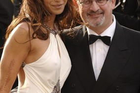 PA file photo dated 5/2/2006 of Padma Lakshmi and Salman Rushdie. PRESS ASSOCIATION photo. Issue date: Monday July 2, 2007. Salman Rushdie and his wife Padma Lakshmi are divorcing, the British author said today. The split comes just weeks after it was announced that The Satanic Verses author, 60, was receiving a knighthood. See PA story SHOWBIZ Rushdie. Photo Credit should read: Yui Mok/PA Wire