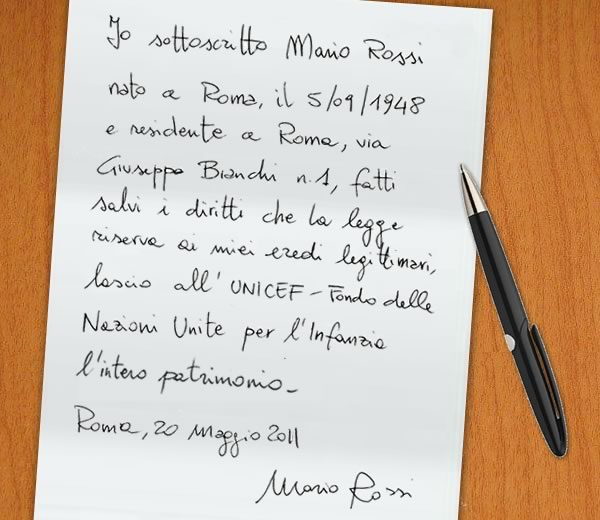 Italiani generosi: testamenti con più lasciti solidali