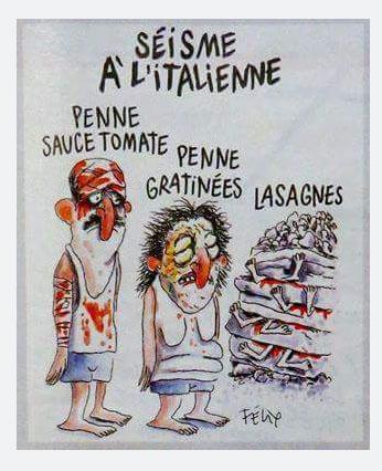 Satira su terremoto: #jenesuispasCharlie