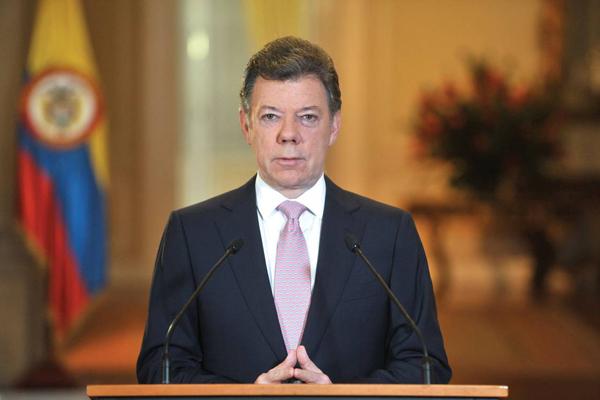 Nobel Pace 2016 a Santos, presidente Colombia