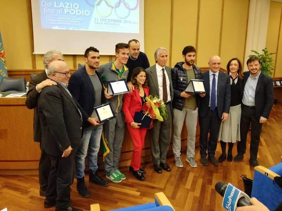 Dal Lazio al podio: una targa per gli atleti di Rio