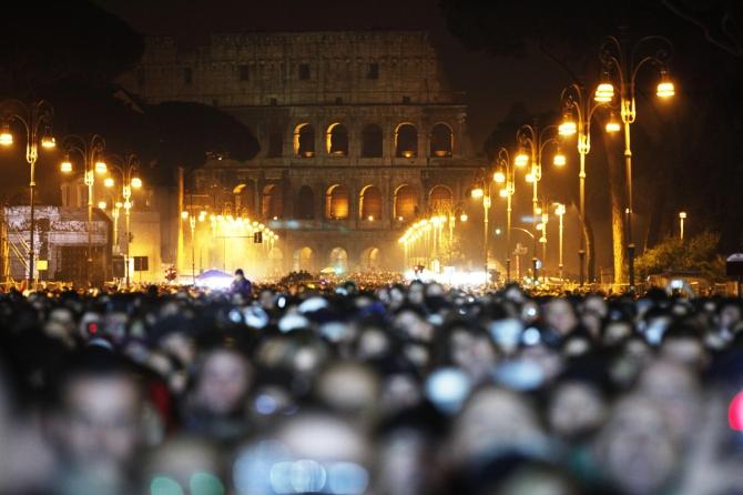 A Roma Capodanno al buio e in silenzio