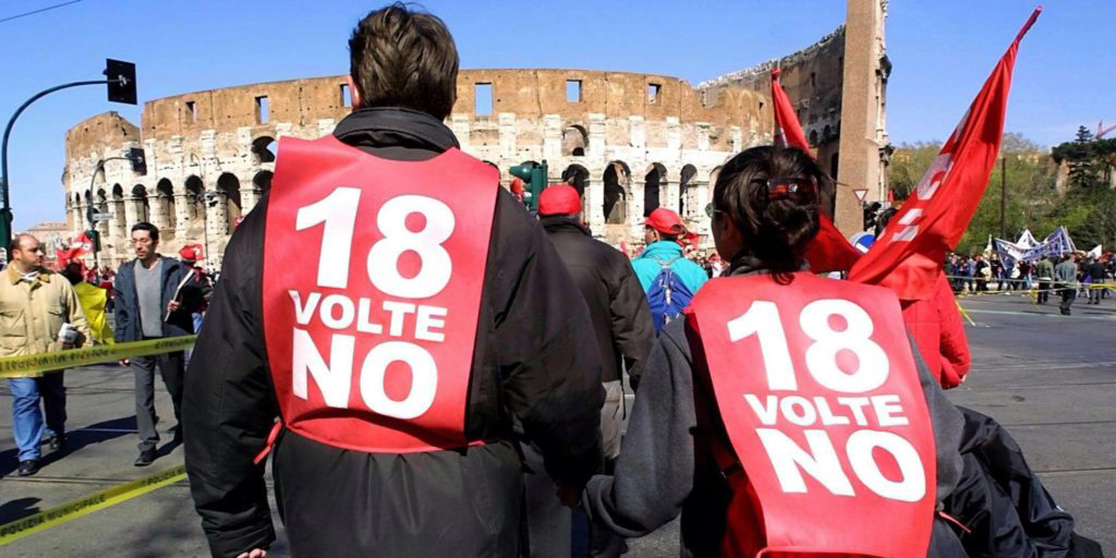 Jobs act: Consulta boccia referendum su art.18