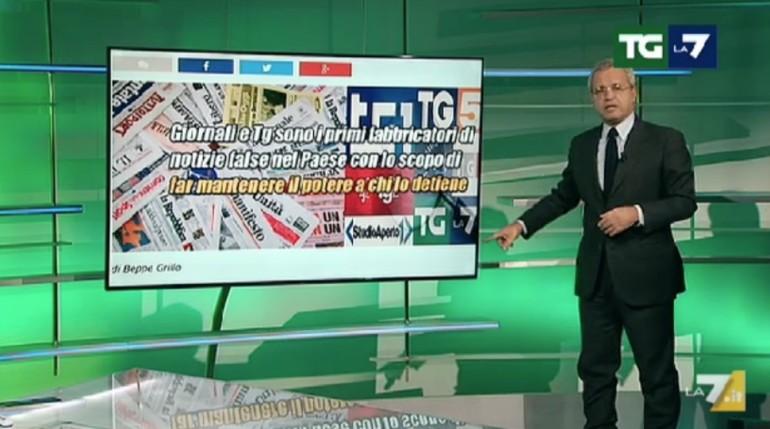 Bufale in rete, Mentana contro Grillo: si trovi un avvocato