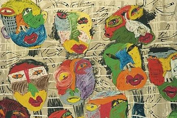 Arte in carcere, sui muri di Regina Coeli