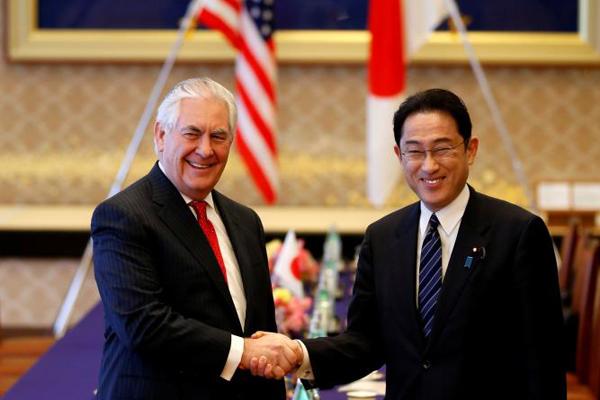 Corea, Tillerson: