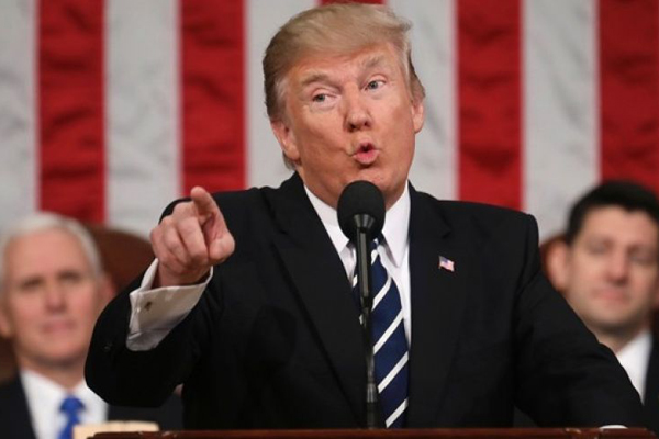Trump al Congresso parla come un presidente
