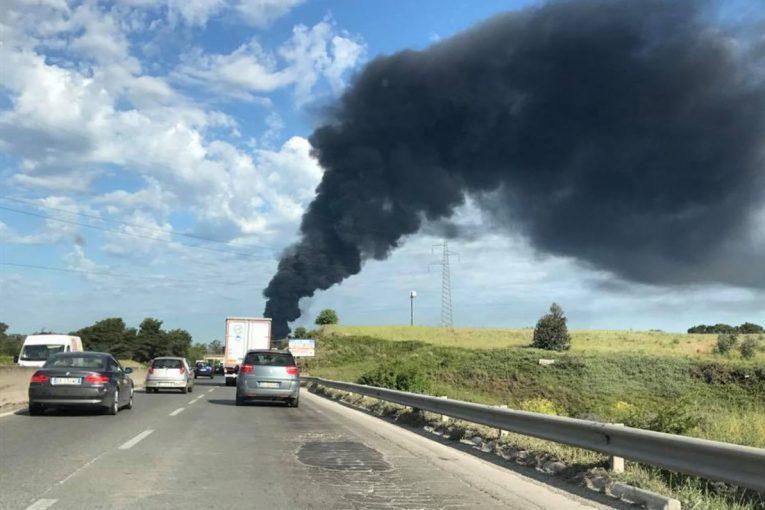 Pomezia: nube tossica e ortaggi a rischio