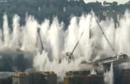 Genova, Ponte Morandi non esiste più