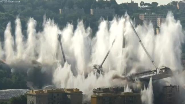 Implosione ponte di Genova
