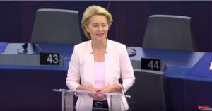 Ursula von der Leyen presenta la sua proposta di governo come candidata alla Presidenza della Commissione Europea