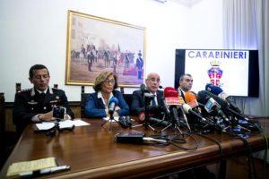 Conferenza stampa carabiniere ucciso