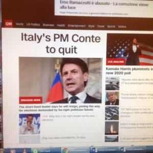 CNN dimissioni Conte