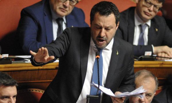 Salvini in Senato sul caso Gregoretti